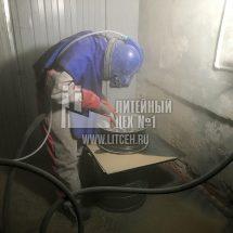 Процесс пескоструйной обработки