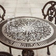 Каслинское литье столика из чугуна