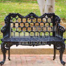 Литье чугунной скамейки