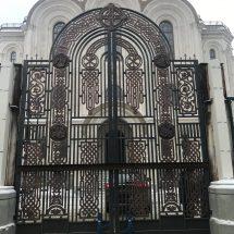 литые художественные ворота
